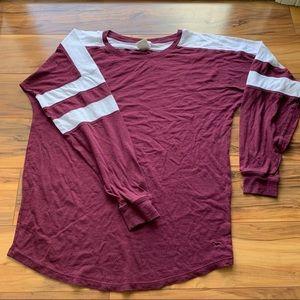 Pink Victoria's Secret long sleeve T-shirt S